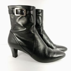 COLE HAAN Women's Ankle Boots Black Leather sz10.5